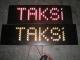 ledli taksi yazısı